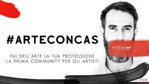 Professione Artista #ArteCONCAS - fai dell'arte la tua professione andrea concas - community artisti