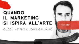 GUCCI NETFLIX GALLIANO Quando il marketing si ispira allArte ArteConcas Andrea Concas11